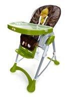 Krzesełko do karmienia Baby Maxi DUŻE- zielono-brązowe