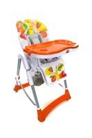 Krzesełko do karmienia Baby Maxi ROZKŁADANE- POMARAŃCZOWE