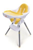 Krzesełko do karmienia Baby Maxi - ŻÓŁTE