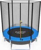 Trampolina składana 183 cm z siatką ochronną + drabinka