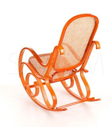 Fotel bujany wyplatany Jasne drewno - Rafia