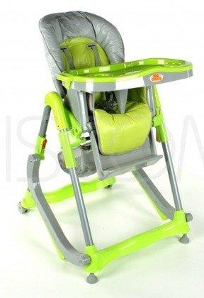 Krzesełko do karmienia 207 z płozami do bujania - zielone