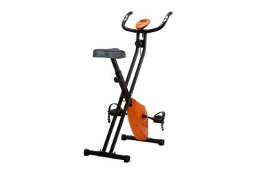 Rower treningowy Magnetyczny Składany z pomiarem pulsu - pomarańczowy