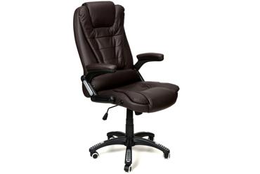 Fotel biurowy MANAGER - brązowy