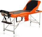 Łóżko do masażu 3 segmentowe aluminiowe dwukolorowe