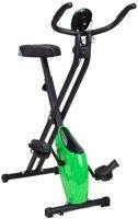 Rower treningowy Magnetyczny Składany z pomiarem pulsu - zielony