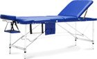 Stół, łóżko do masażu 3 segmentowe aluminiowe niebieskie XXL