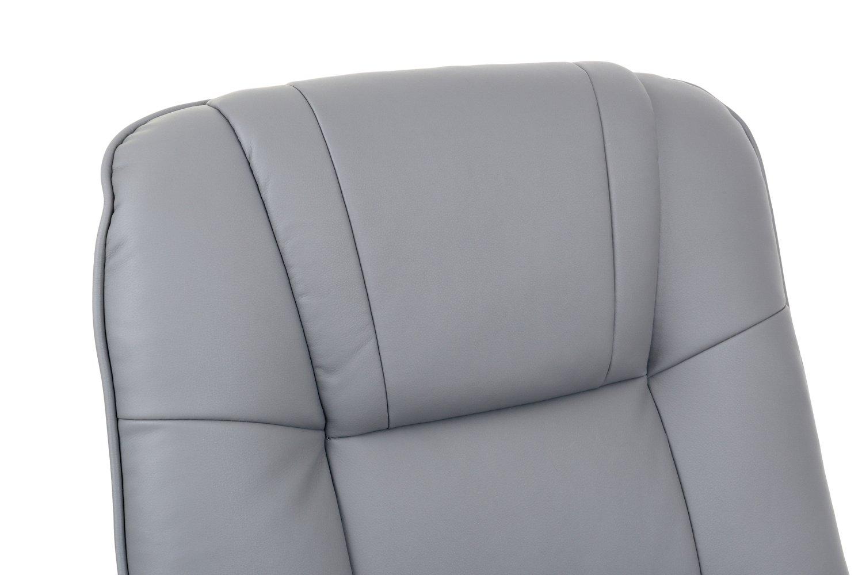 Fotel Tv Wypoczynkowy Z Masażem Grzaniem I Podnóżkiem Szary