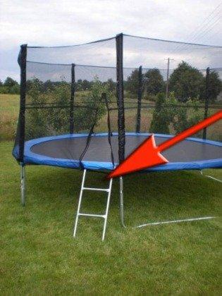 Drabinka do trampoliny 2,4m 3,7m 4,3m 4,6m