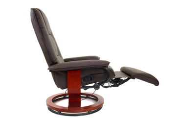 Fotel TV wypoczynkowy z masażem, grzaniem i podnóżkiem
