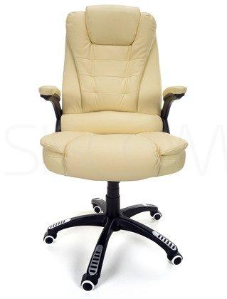 Fotel biurowy MANAGER z masażem - beżowy