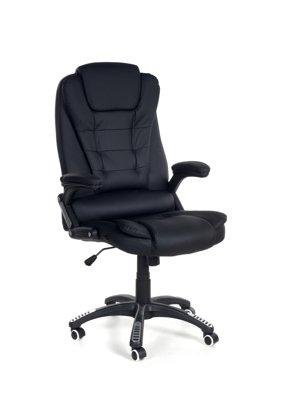 Fotel biurowy MANAGER z masażem - czarny