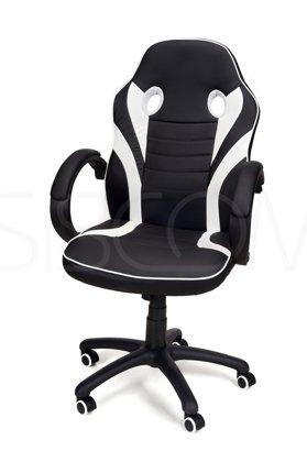 Fotel biurowy RACE GAMER czarno-biały