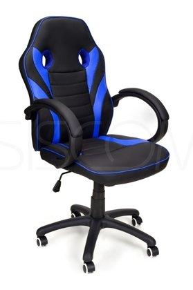 Fotel biurowy RACE GAMER czarno-niebieski