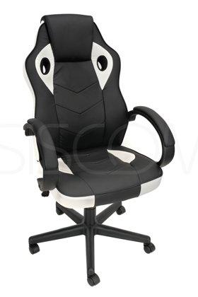 Fotel biurowy XGAMER - czarno-biały