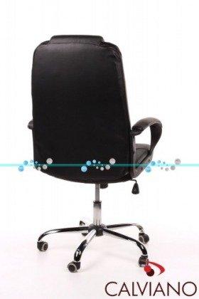 Fotel biurowy czarna skóra Senator II