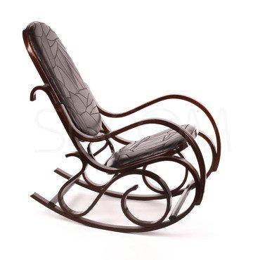 Fotel bujany, bujak wykończony skórą
