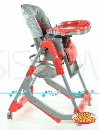 Krzesełko do karmienia 207 z płozami do bujania - pomarańczowe