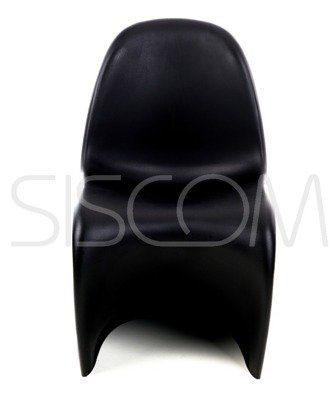 Krzesło plastikowe Adrienne czarne