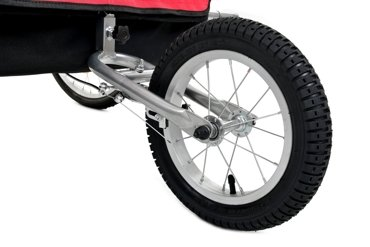 Przyczepka rowerowa 2-osobowa +JOGGER - czerwona