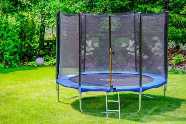 Trampolina ogrodowa dla dzieci 252cm FUNFIT z siatką zewnętrzną i drabinką