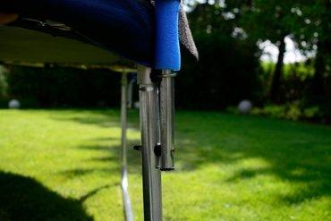 Trampolina ogrodowa dla dzieci 404cm FUNFIT z siatką zewnętrzną i drabinką